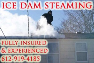 Removing Ice Dams With Steam MN