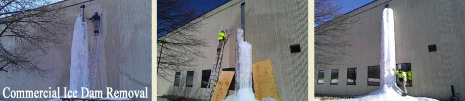 Commercial Ice Dam Removal by Absolutely Clean Window Washing