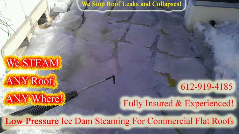Ice Dam Steaming MN Images - Ice Dam Removal