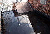 Commercial Flat Roof Clean-Off