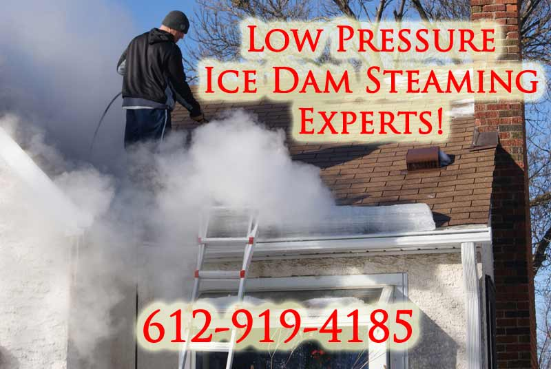 Chicago Illinois Ice Dam Removal with Steam
