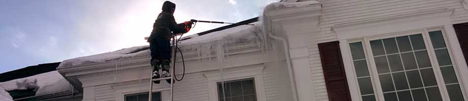 Steam Ice Dam Removal by Absolutely Clean Window Washing