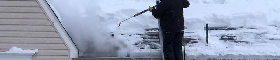 Steaming Ice Dams by Absolutely Clean Window Washing