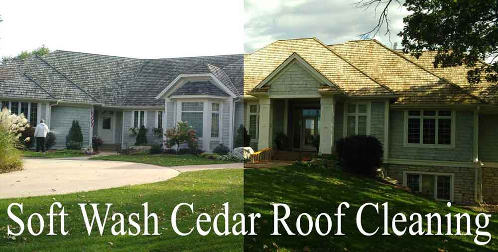 Edina cedar roof soft wash