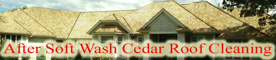Minnesota Cedar Roof Cleaning Service Area After Softwashing
