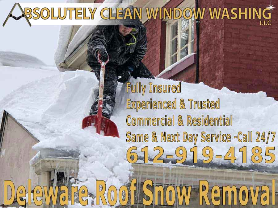 Delaware Roof Snow Removal