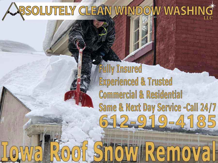 Iowa Roof Snow Removal