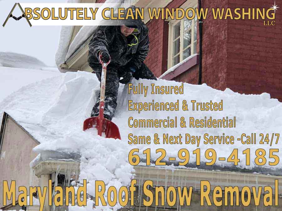Maryland Roof Snow Removal