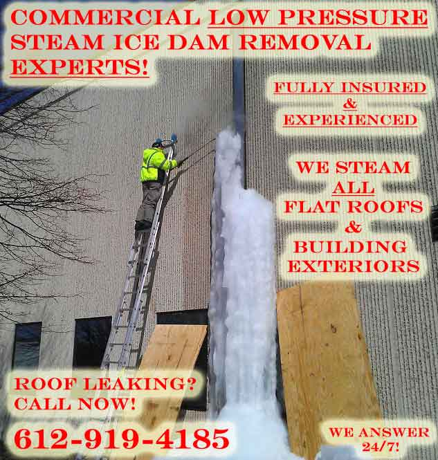 Commercial Roof Snow Removal Ice Dam Removal Delaware