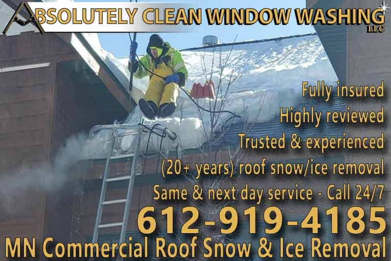 MN Commercial Roof Snow and Ice Dam Removal