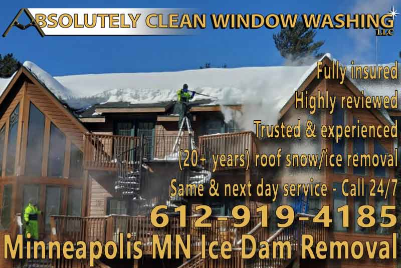 Minneapolis MN Ice Dam Removal