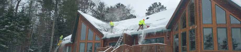 Steam Ice Dam Removal - Roof Snow Removal Service