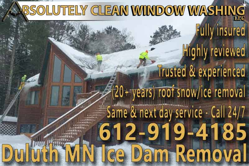Duluth MN Ice Dam Removal