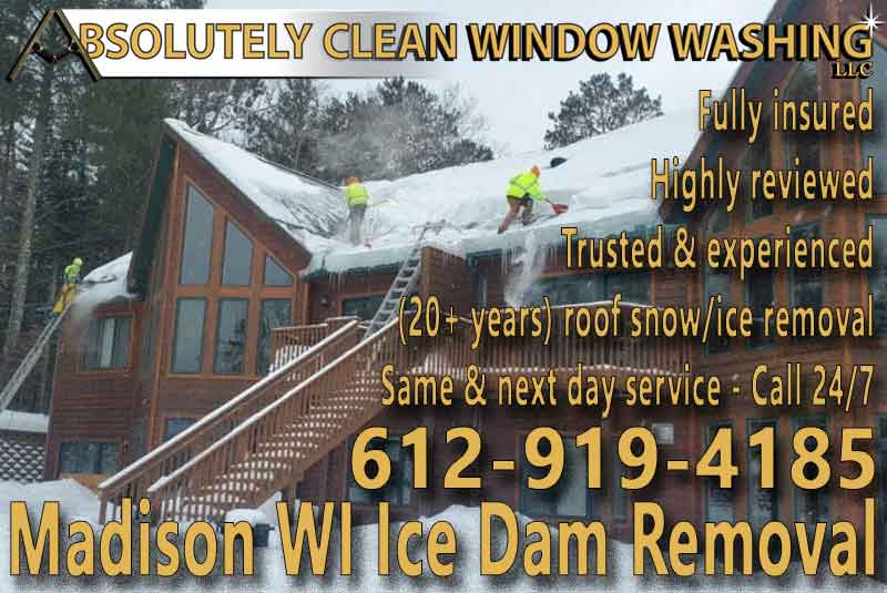 Madison WI Ice Dam Removal