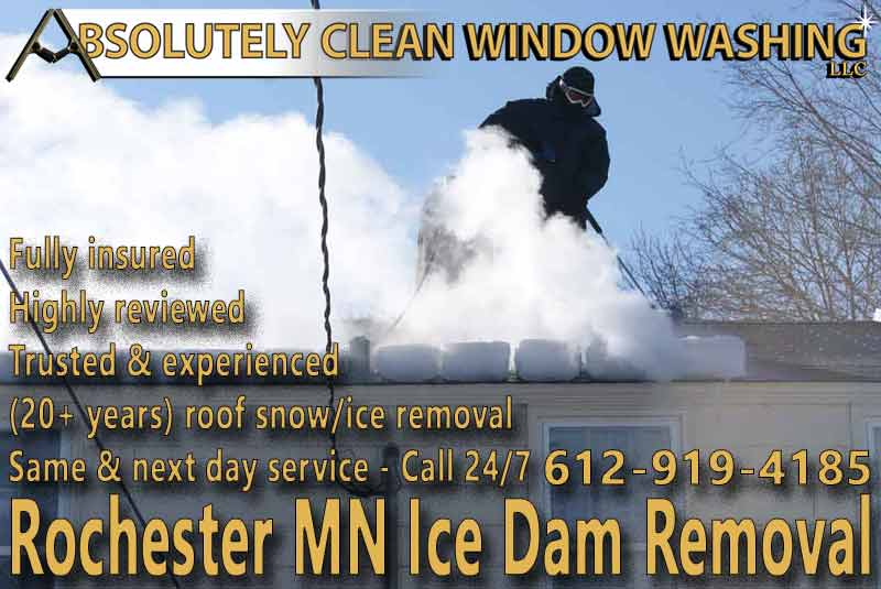 Rochester MN Ice Dam Removal